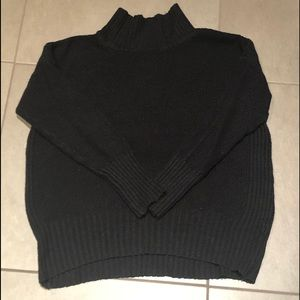 Anthropologie Black Oversized Turtleneck Sweater